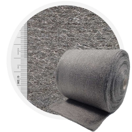Stainless Steel Wool 434 normal 400 mm - 70 μm, ± 850 gr/m2