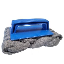 Handle steel wool mat